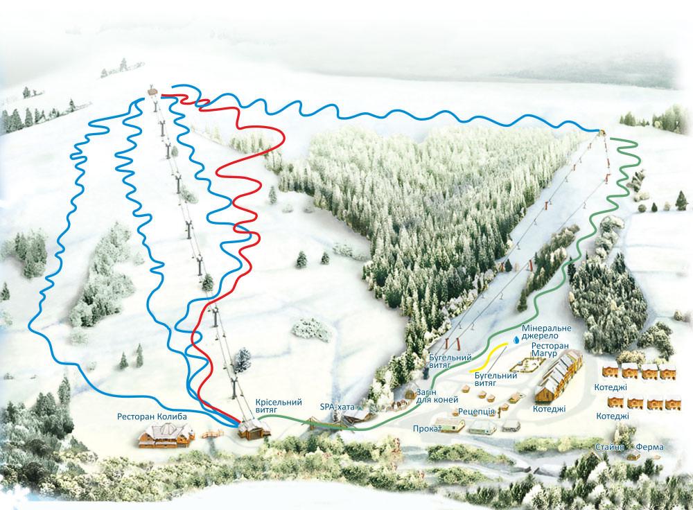 Схема трас Ізки