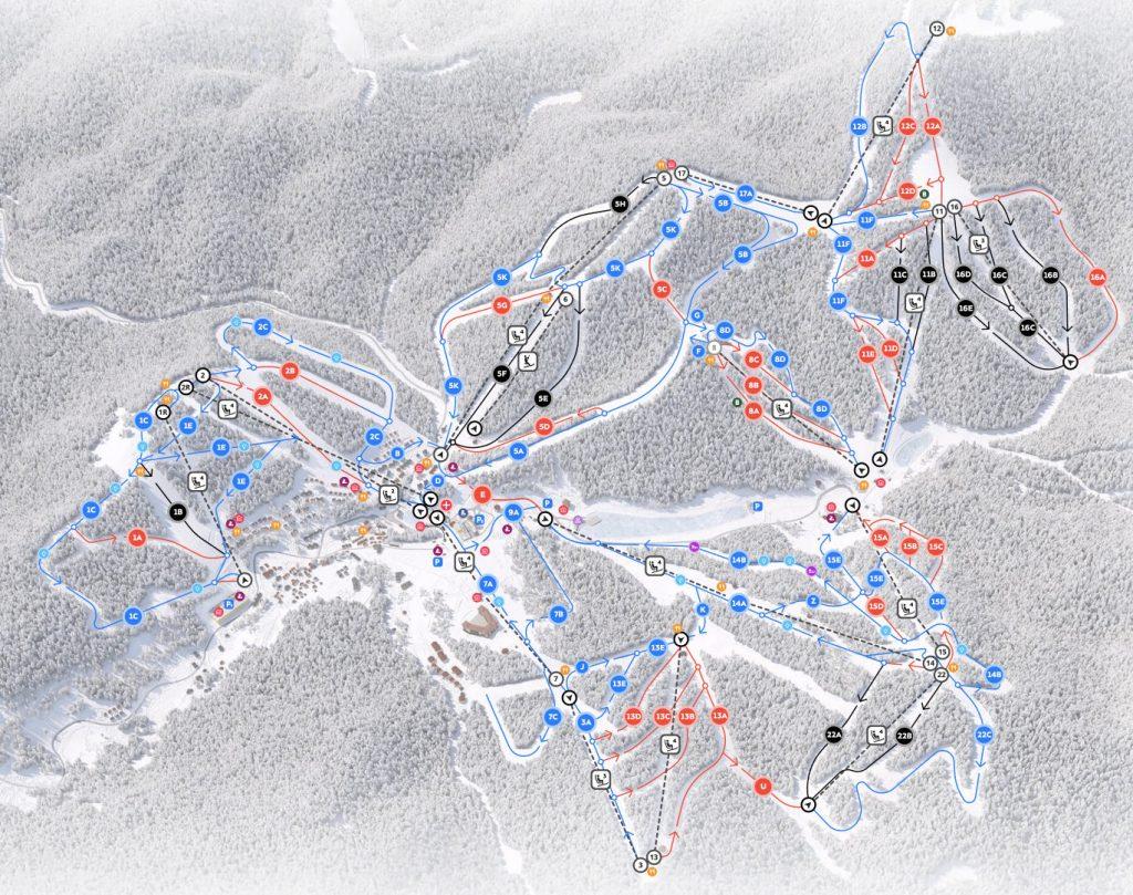 Карта трас Буковелі